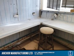 pub kitchen refit filey cladding 3