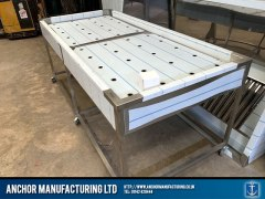 Sheffield Stainless steel body wash table