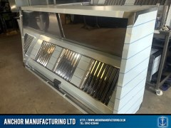 Sheffield Stainless steel medium sized air extraction canopy