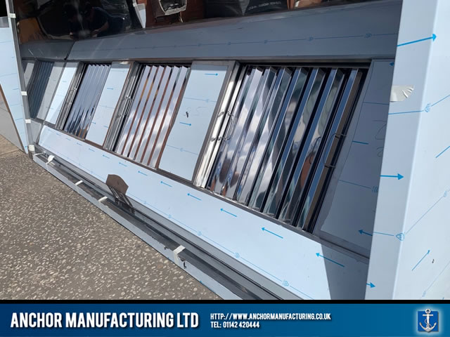 Sheffield Stainless steel triple filter kitchen canopy outside