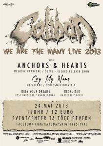 Caliban spielen auf Anchors & Hearts Release Party