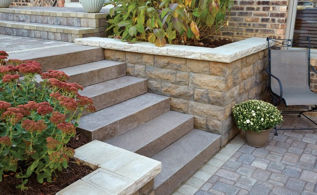 Landings Concrete Block Step Units By Anchor Wall