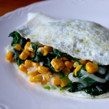 Easy Egg White and Spinach Omelet