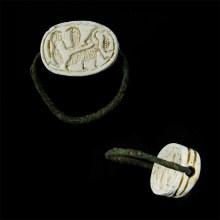 Egyptian-Hyksos Scarab Swivel Ring