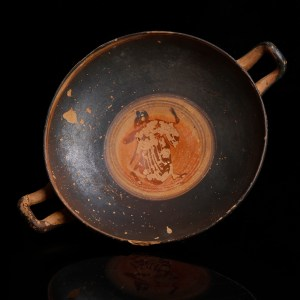 Attic Kylix with Symposium Scene
