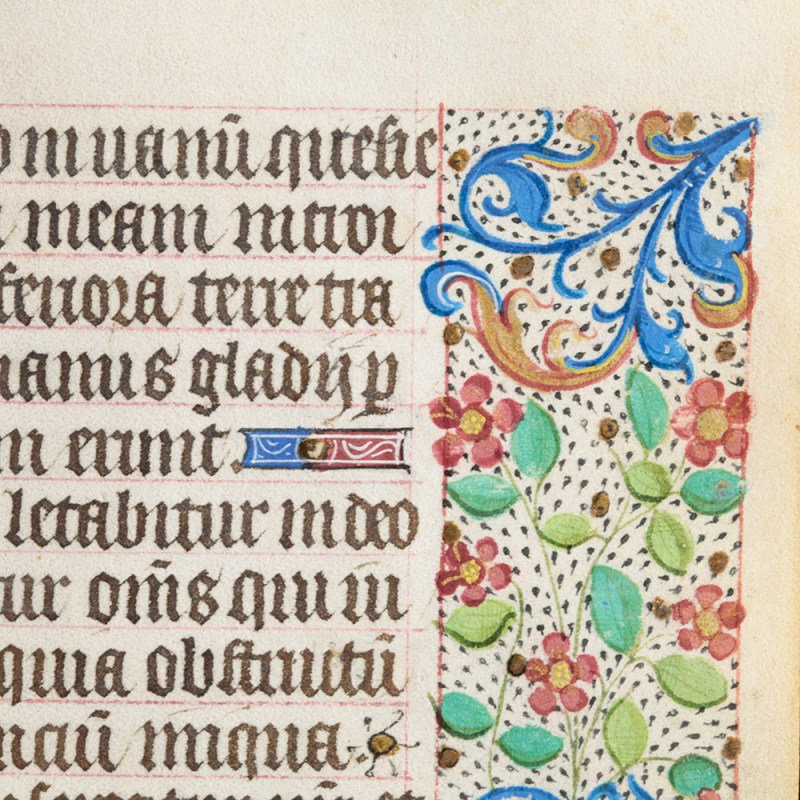 Beautifully Decorated Medieval Leaf