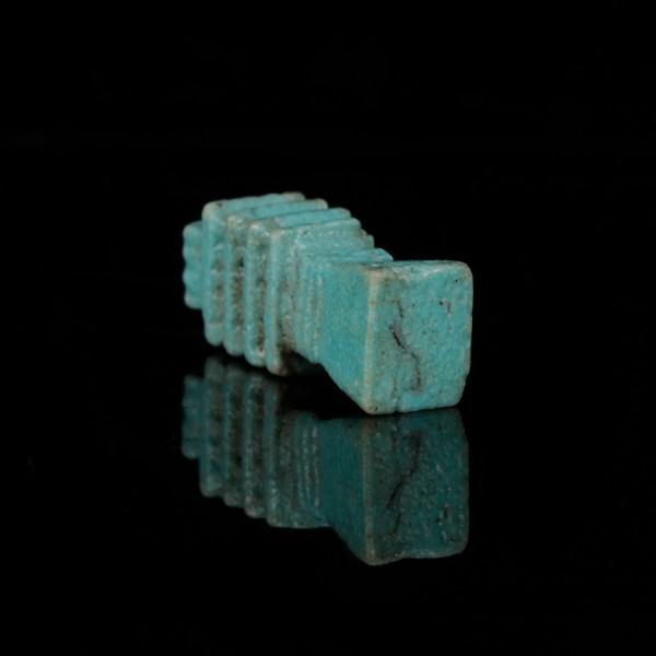 Blue Glazed Faience Djed Pillar