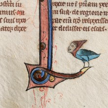 British Medieval Manuscript with Hybrid Creature