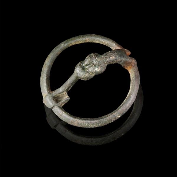 Celtiberian Bronze Knot Fibula