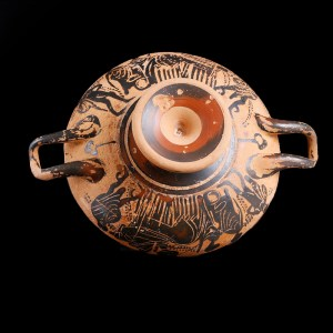 Finely Decorated Greek Attic Black-Figure Kylix