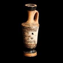 Greek Terracotta Black-Figure Lekythos