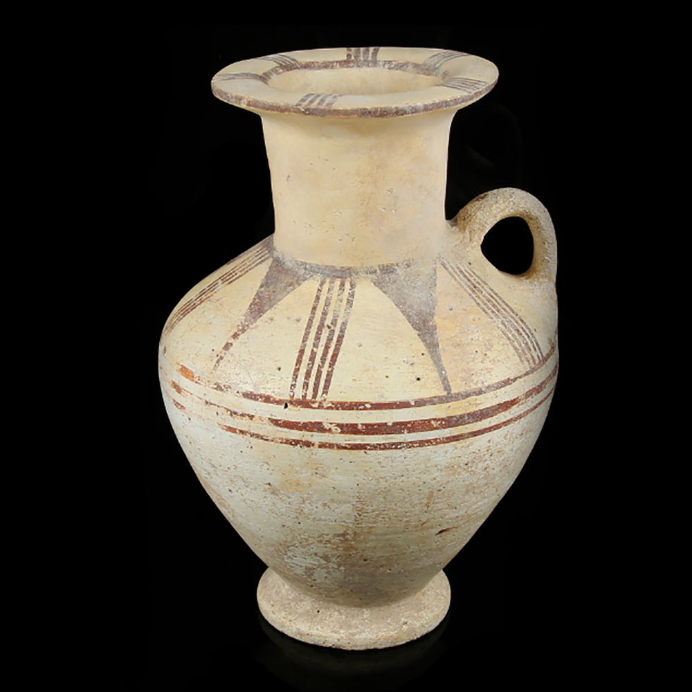 Large Canaanite Chocolate-On-White Ware Jug