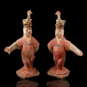 Pair of Tang Dynasty Dancers