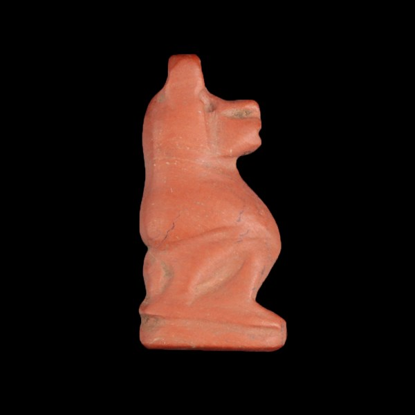 Red Jasper Amulet in the Shape of a Baboon