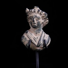 Roman Bronze Bust Applique