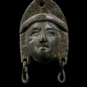 Roman Bronze Theatre Mask Applique