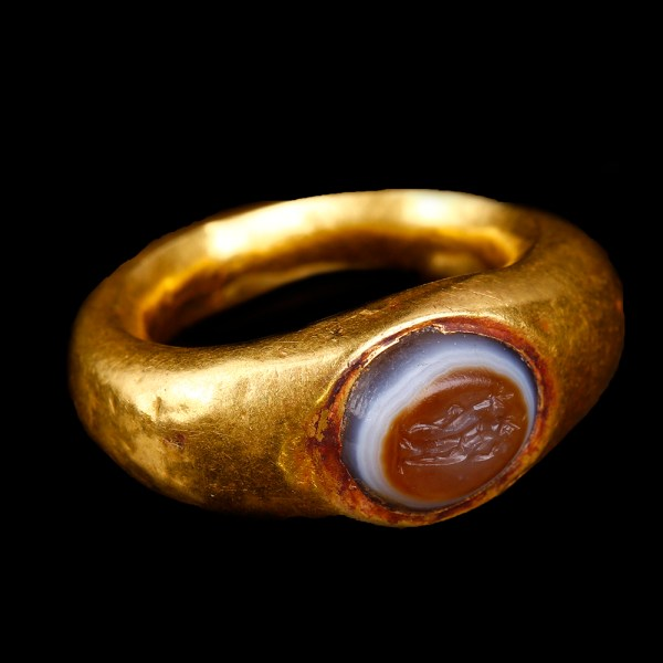 Roman Gold Ring with Harpocrates