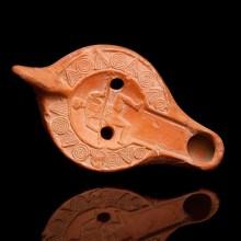 Roman Oil Lamp with Venator