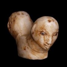 Sumerian Two-Headed Alabaster Pommel