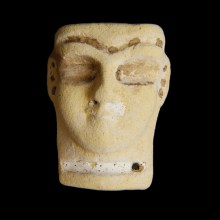 Sumerian Faience Head