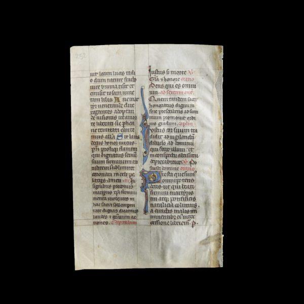Manuscript Leaf with Gold