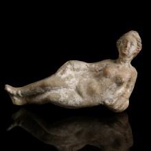Greco-Roman Terracotta Statuette of a Reclining Woman