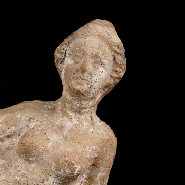 Greco-Roman Terracotta Statuette of a Reclining Woman