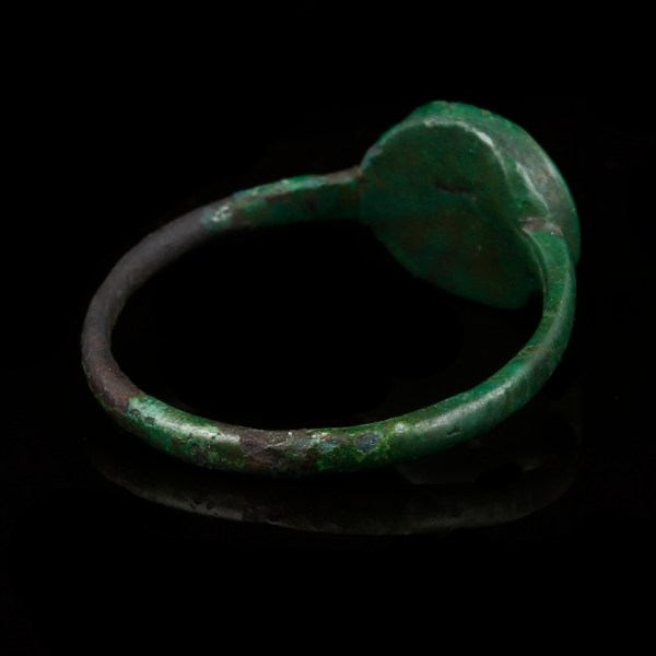 Roman Bronze Ring with Insect Intaglio