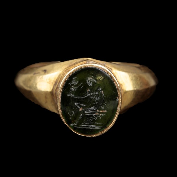 Roman Green Chalcedony Intaglio