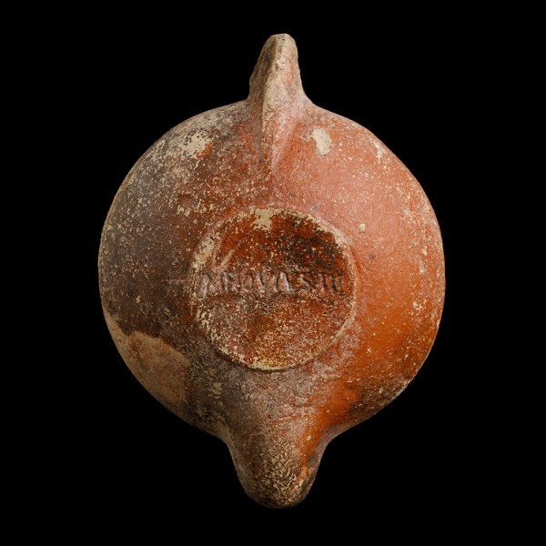 Roman Oil Lamp with Cupid on a Dolphin