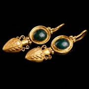 Roman Earrings with Amphorae