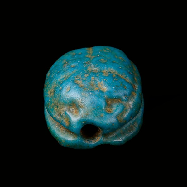 Mustaki Collection Turquoise Faience Scarab