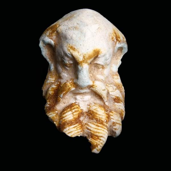 Hellenistic Terracotta Head of Silenus