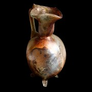 Roman Tri-Footed Marbled Glass Jug
