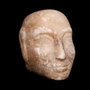 Sumerian Alabaster Head