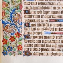 French Manuscript Leaf