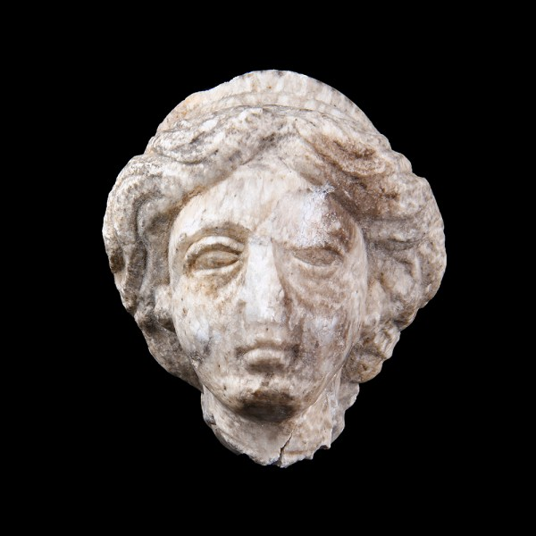 Roman Marble Head of a Goddess with Diadem