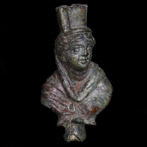 Roman Bronze Fortuna Applique