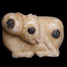 Uruk Ram Figurine in Alabaster