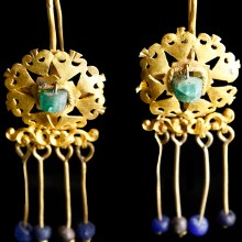 Roman Earrings with Rosette Discs