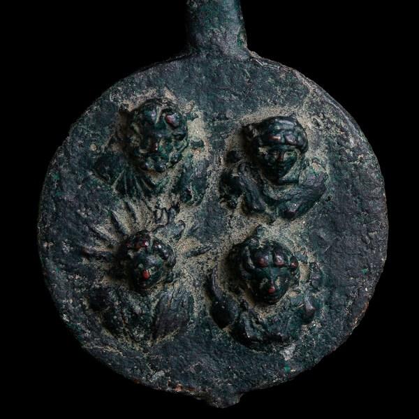 Roman Bronze Fitting with Deities