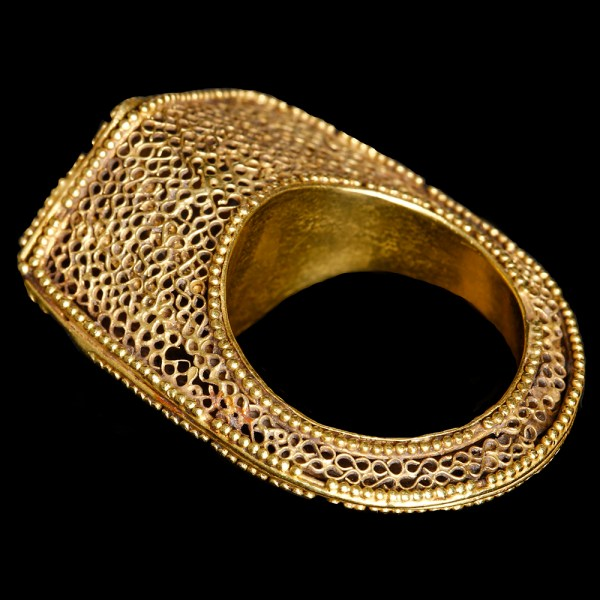Byzantine Gold Bangle with Crosses