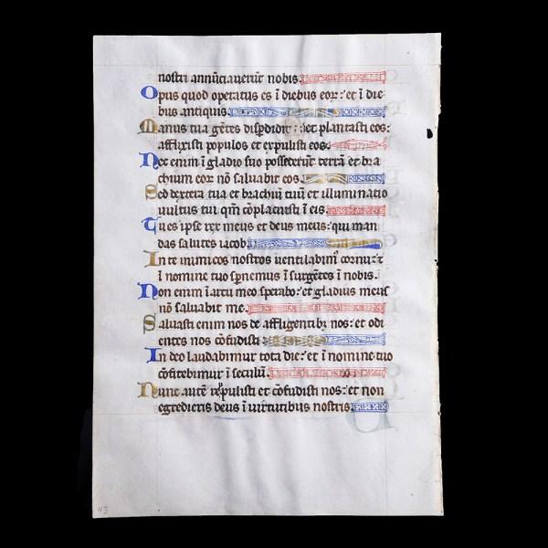 Period of King Philip II of France Manuscript