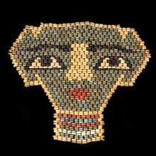 Ancient Egyptian Beaded Mummy Mask
