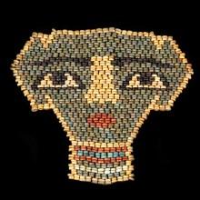 Ancient Egyptian Beaded Mummy Mask