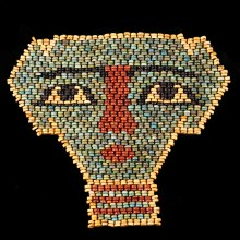 Ancient Egyptian Faience Beads Mummy Mask