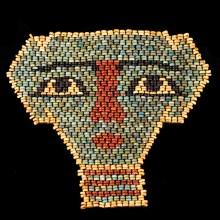 Ancient Egyptian Faience Beads Mummy Mask