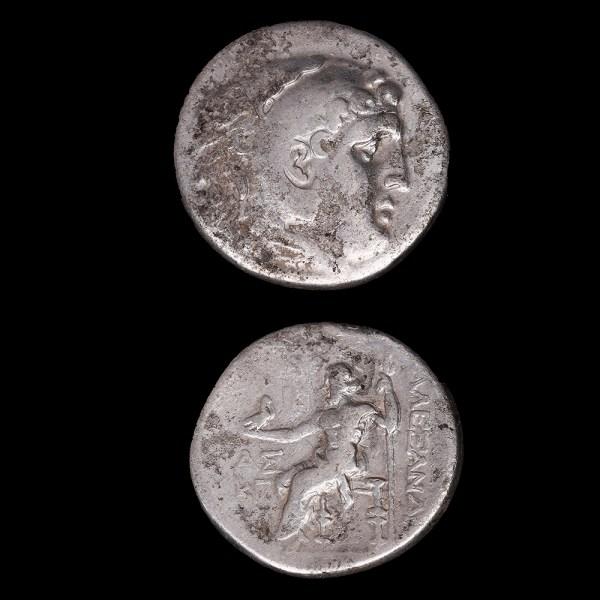 Alexander the Great Silver Tetradrachm with Zeus