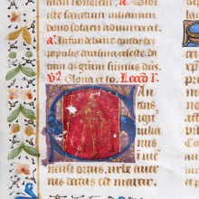 French Manuscript Leaf with Saint Julian of Brioude