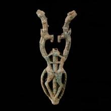 Luristan Bronze Ibex Finial
